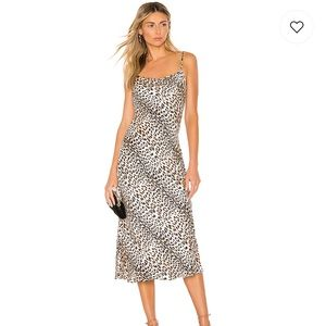 Bec + Bridge Feline Silk Midi dress
